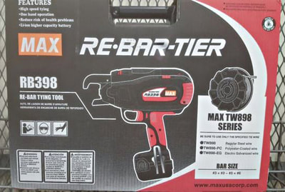 Mills Supply Company,  In Stock: max tie wire gun RB398, rebar tying